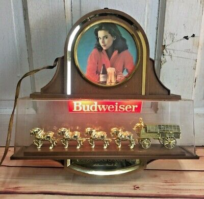 $ CDN250.44 • Buy Budweiser Clydesdale Lighted Beer Sign Breweriana Vintage Girl Women Horses Rare