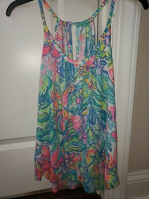 $32 • Buy Lilly Pulitzer Lacy Tank Surf Gypsies Med
