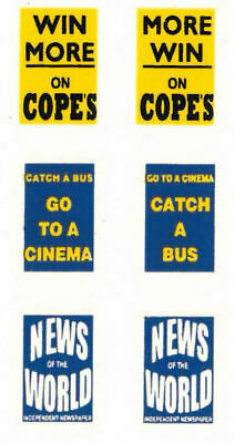 Modelmaster 1:76th Professional Silk Screen Watersllde Decals BUS ADVERTS  5   • 4.50£