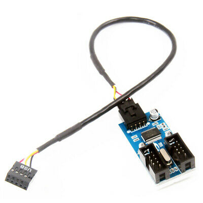 AU6.25 • Buy Motherboard 9Pin USB Header Male To 2Female Splitter Adapter Extension Cable Nov