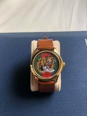 AU550 • Buy Gucci Tiger Watch Marche Des Merveilles Green And Red Web Nylon Dial