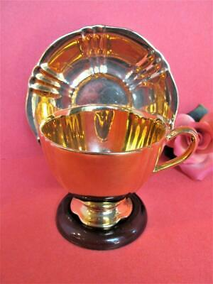$ CDN12.67 • Buy Royal Winton Grimwades English Gold Color Teacup & Saucer  Kt5558