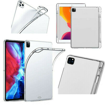 AU18.89 • Buy For IPad Pro 11 12.9 (2020-2018) Case Ultra Thin Clear TPU Cover W/Pencil Holder
