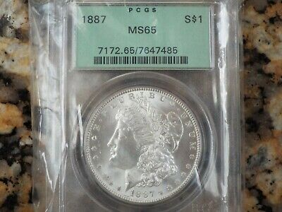 $99.99 • Buy 1887-P Morgan Silver Dollar, PCGS MS-65!