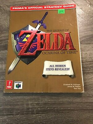 $20 • Buy Legend Of Zelda Ocarina Of Time Nintendo 64 N64 Official Prima Strategy Guide!