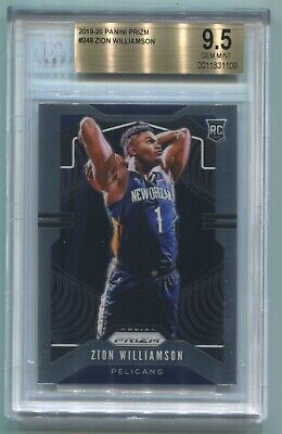 $50 • Buy ZION WILLIAMSON 2019-20 Panini Prism Rookie Graded BGS 9.5 Gem Mint, Centered!