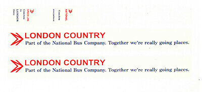 Modelmaster 1:76th Professional Silk Screen Watersllde Decals BUS ADVERTS  12  • 4.50£
