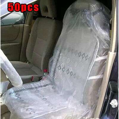 $22.86 • Buy 50x Disposable Clear Plastic Car Truck Seat Covers Protector Mechanic Valet A
