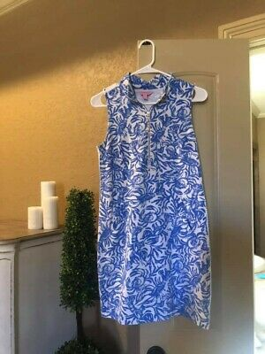 $19.99 • Buy Small Lilly Pulitzer SleevelessDress W/ Pockets Rare On A Roll Lobster In Blue