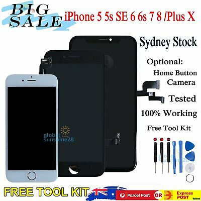 AU24.99 • Buy For IPhone X 8 7 + 6s 6 Plus 5s LCD Touch Screen Replacement Digitizer Assembly