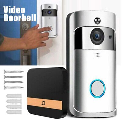 Smart Doorbell WiFi Wireless Video Intercom Door Ring Security Camera Bell 720P • 29.99£