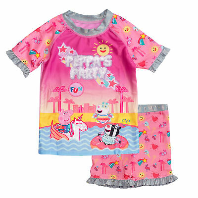 £7.69 • Buy Official Kids Peppa Pig Party Girls Swimming Top & Shorts Costume