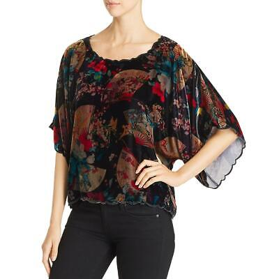 $45.99 • Buy Johnny Was Womens Jolie Black Velvet Kimono Sleeves Crop Top Shirt S BHFO 2256