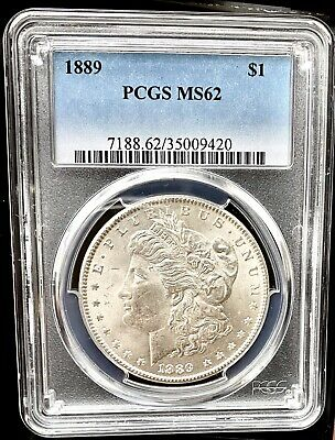 $18.50 • Buy 1889 Morgan Silver Dollar PCGS MS62 Brilliant Uncirculated