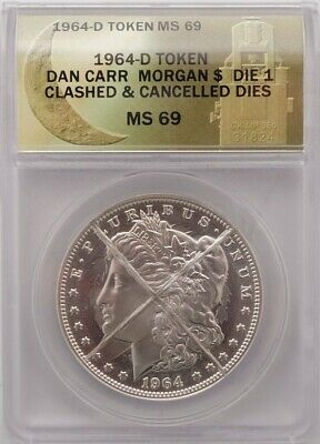 $230 • Buy 1964-D Morgan Silver Dollar - ANACS MS69 - Clashed And Cancelled