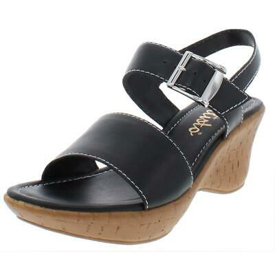 $12.99 • Buy Callisto Of California Womens Shelton Black Wedge Sandals 8 Medium (B,M) 8497