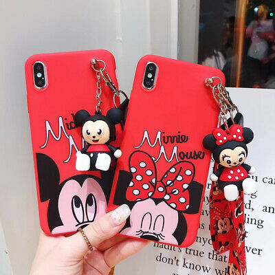 AU7.99 • Buy Cute 3D Cartoon Animal Doll Pendant  Stand + Strap Case Cover For Various Phone
