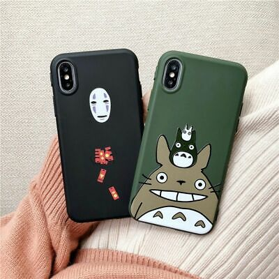 Cute Cartoon Happy Totoro Case Anime No Face Cover For IPhone 12 Pro Max 11 XR 6 • 7.16£