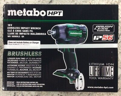 Metabo HPT WR18DBDL2Q4M 18V Li-Ion Brushless 1/2  Impact Wrench (Tool Only) New • 94.34£