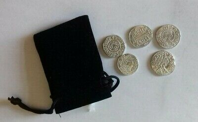 £6 • Buy Reproduction Pewter Alfred The Great Coin Set Of 5.