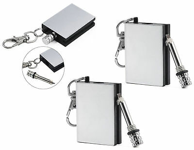 Square Permanent Match Box Lighter Unusual Mens Womens Gadget Toy Birthday Gift • 3.99£