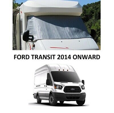 Motorhome External Thermal Screen Cab Windscreen Cover Ford Transit 2014 ON • 78.99£