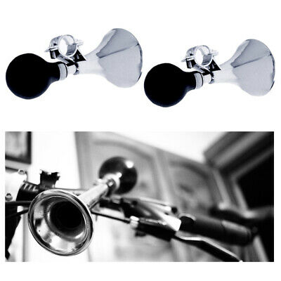 $9.72 • Buy 2 Pc Bicycle Bike Horn Cycling Metal Bell Retro Classic Rubber Squeeze Bulb