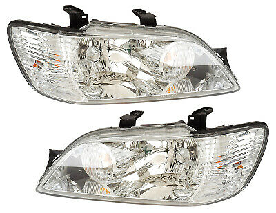 $184.99 • Buy For 2002 2003 Mitsubishi Lancer Headlights Pair Set