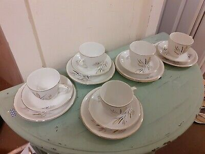 4 X Barratts Delphatic Trios Cups, Saucers, Sideplates  • 9.95£