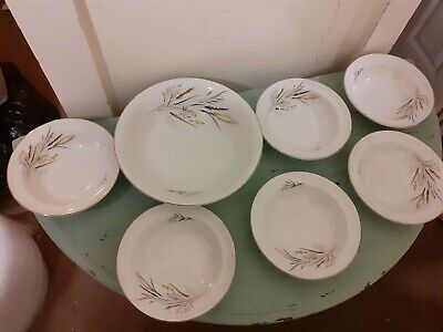 6 X Barratts Delphatic White Bowl And Larger Serving Bowl  • 8.95£