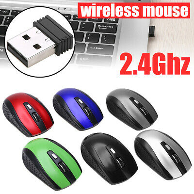 AU7.29 • Buy For PC Laptop  Computer+USB  2.4GHz Cordless Mice Wireless Mouse Optical Scroll
