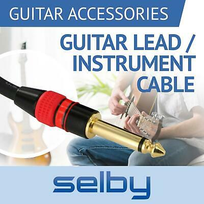 AU13.95 • Buy Electric Guitar Lead Cord Cable 6.35mm 1/4  Jacks For Amp / Pedals / Instrument