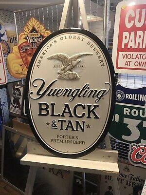 "$39.95 • Buy Yuengling Black And Tan Oval Metal Sign BRAND NEW  22""Length 15""Width"