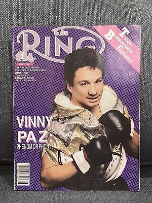 $15.88 • Buy THE RING BOXING MAGAZINE VINNY PAZ JUNE 1987 XLNT UNREAD HOFer