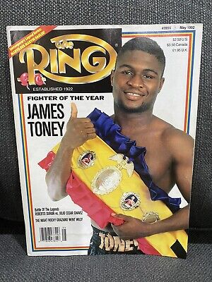 $9.88 • Buy THE RING BOXING MAGAZINE JAMES TONEY May 1992 Fighter Of The Year XLNT CHAMP