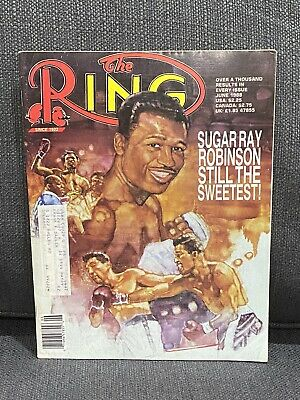 $9.88 • Buy THE RING BOXING MAGAZINE SUGAR RAY ROBINSON June 1988 XLNT HOFer P4P KING