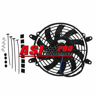 AU39 • Buy 9  9INCH PULL/PUSH RADIATOR Curved Blade Electirc Thermo FANS+MOUNTING UNIVERSAL