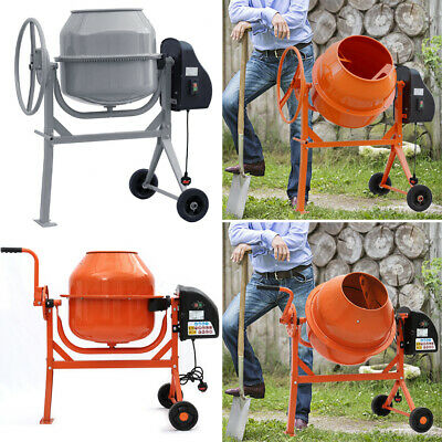 £235.95 • Buy Electric 360° Cement Mixer Portable Mortar Plaster Concrete Drum With Stand 240V