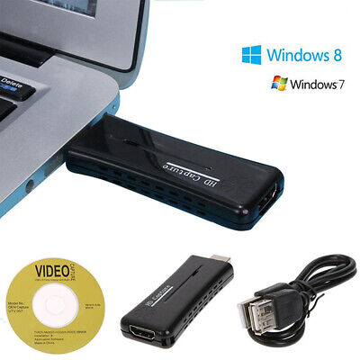 HDMI Game Capture Card 1080P HD Video Recorder For XBOX PS4 DVD Mic-in • 12.52£