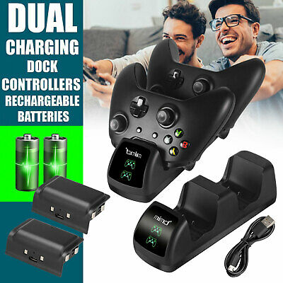 $22.97 • Buy Dual Controller Charger LED Charging Dock Station W/ 2 Battery For Xbox One S X