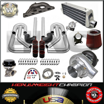 AU899.14 • Buy Turbo Kit T3/T4 For 00-05 Eclipse RS GS 4G64 Galant 2.4 IC PK WG BOV Manifold BK