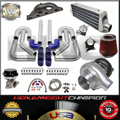 AU899.14 • Buy Turbo Kit T3/T4 For 00-05 Eclipse RS GS 4G64 Galant 2.4 IC PK WG BOV Manifold BL