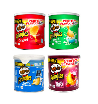 Pringles Original Crisps All Flavours 12 X 40g Tub,No.1 Fastest Growing Brand* • 8.99£