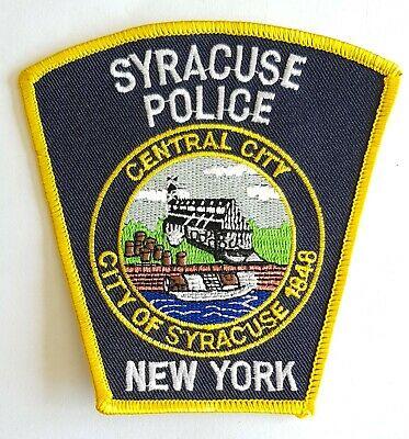 Obsolete Original Police Patch Badge Sycracuse New York USA • 5.99£
