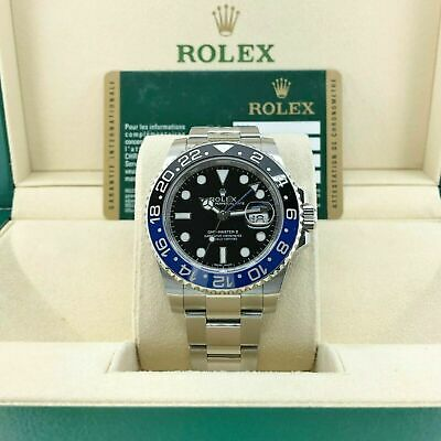 $ CDN20024.24 • Buy Rolex 40MM Ceramic GMT Master II Batman Stainless Steel Watch Ref 116710BLNR