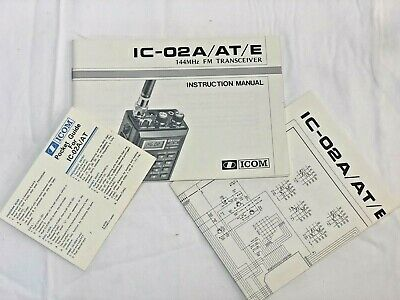 $ CDN30.78 • Buy Icom IC-02A/AT/E 2 Meter FM Handheld Xcvr Manual, Quick Guide, And Schematic