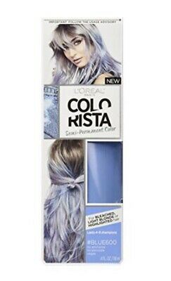L'oreal Colorista Semi- Permanent Hair Color For Light Hair, Blue600 4oz • 9.19£