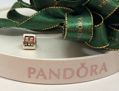 AU28.50 • Buy Pandora Silver Charm Initial Letter Alphabet M Retired 790323M Retired Genuine