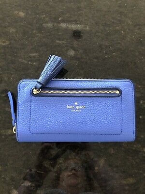 $ CDN169 • Buy NWT Kate Spade Chester Street Neda Blue Pebbled Leather Wallet