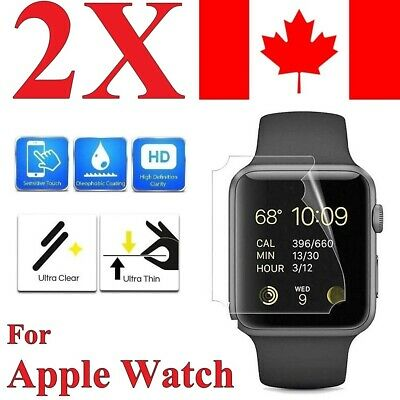 $ CDN3.99 • Buy (2 Pack) Premium Screen Protector Cover For Apple Watch Series 1 2 3 4 5 6 SE